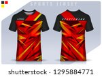 t shirt sport design template ... | Shutterstock .eps vector #1295884771
