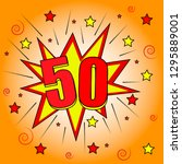 50 years anniversary colorful... | Shutterstock .eps vector #1295889001