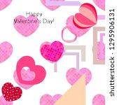 valentine's day  heart ... | Shutterstock .eps vector #1295906131