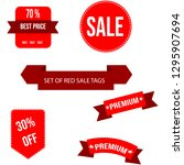 red vectors sale price tags... | Shutterstock .eps vector #1295907694