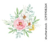 painted watercolor composition...   Shutterstock . vector #1295908264