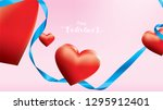 valentine 3d colorful red... | Shutterstock .eps vector #1295912401