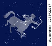 zodiac sagittarius sign  star... | Shutterstock .eps vector #1295922367