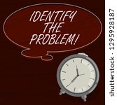 text sign showing identify the... | Shutterstock . vector #1295928187