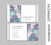 floral business card design.... | Shutterstock .eps vector #1295941741