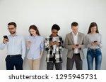 millennial phone users business ... | Shutterstock . vector #1295945731