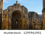 old stone ruins of the abbey... | Shutterstock . vector #1295961901