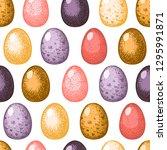 easter seamless pattern. hand... | Shutterstock .eps vector #1295991871