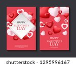 happy valentines day card with... | Shutterstock .eps vector #1295996167