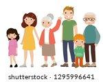 happy big family   | Shutterstock .eps vector #1295996641