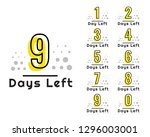 number of days left countdown... | Shutterstock .eps vector #1296003001