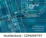 blueprint. vector engineering... | Shutterstock .eps vector #1296009757