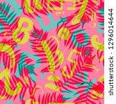 school lettering seamless... | Shutterstock .eps vector #1296014644