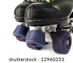 retro roller skates isolated on ... | Shutterstock . vector #12960253