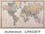 original old hand coloured map... | Shutterstock . vector #129602879