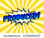 the word produced on speech... | Shutterstock .eps vector #1296044107