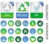 vector ecology infographics... | Shutterstock .eps vector #129607031