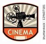 cinema label  vector... | Shutterstock .eps vector #129607181