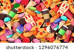 seamless vector pattern with... | Shutterstock .eps vector #1296076774