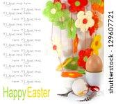 easter egg on background of...   Shutterstock . vector #129607721