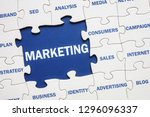 business marketing solution... | Shutterstock . vector #1296096337