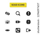 ui icons set with gears  clock...