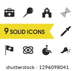 medicine icons set with...   Shutterstock .eps vector #1296098041