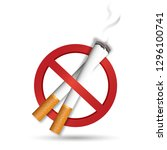 no smoke smoking  isolated on... | Shutterstock . vector #1296100741