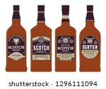 vector brown and gold scotch... | Shutterstock .eps vector #1296111094