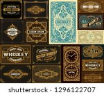pack of 16 vintage designs for... | Shutterstock .eps vector #1296122707