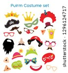 design for jewish holiday purim ... | Shutterstock .eps vector #1296124717