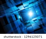 blue space abstract vector... | Shutterstock .eps vector #1296125071