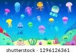 Jellyfish Vector Ocean Jelly...