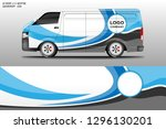 car decal van wrap design... | Shutterstock .eps vector #1296130201