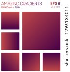 colorful gradients in mahogany  ... | Shutterstock .eps vector #1296134011