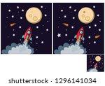 children's puzzles  find 10... | Shutterstock .eps vector #1296141034