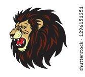 lion roaring logo vector cartoon   Shutterstock .eps vector #1296151351