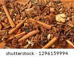 spice for tea  coffe  baking on ... | Shutterstock . vector #1296159994