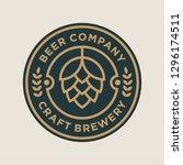 brewery logo design concept.... | Shutterstock .eps vector #1296174511