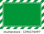 warning sign green white stripe ... | Shutterstock . vector #1296176497
