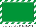 warning sign green white stripe ... | Shutterstock .eps vector #1296176524