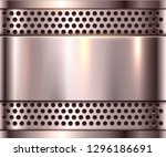 silver metal background  shiny... | Shutterstock .eps vector #1296186691