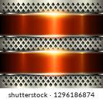 metallic background silver... | Shutterstock .eps vector #1296186874