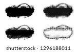 set of brush stroke and... | Shutterstock . vector #1296188011