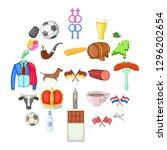 europe icons set. cartoon set... | Shutterstock . vector #1296202654