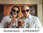 senior men wearing funny...   Shutterstock . vector #1296208357