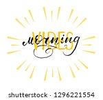 morning vibes with sunset ...   Shutterstock .eps vector #1296221554