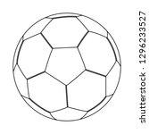 vector illustration of soccer... | Shutterstock .eps vector #1296233527