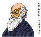 Charles Darwin Vector Cartoon...
