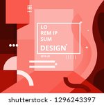 vector abstract geometric shape ... | Shutterstock .eps vector #1296243397
